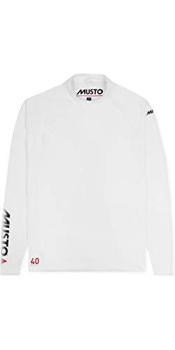 Musto Herren Insignia UV Fast Dry Langarm T-Shirt Top Weiß - UV-Sonnenschutz und SPF-Eigenschaften
