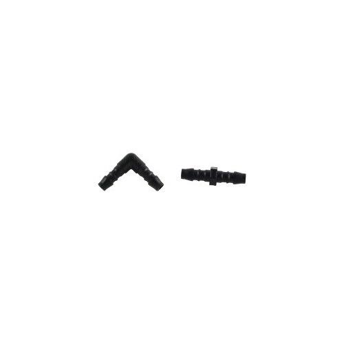 raccord rigide en l + rallonge pour tuyau de condensats - 6 mm - lot de 5