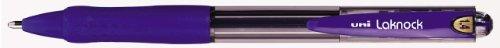 Uniball laknock - penna a sfera a scatto ricaricabile, a punta larga, set da 12 pezzi, colore inchiostro: blu