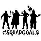 #Squadgoal Zombie Clown Monster Freddy Jason Vinyl-Aufkleber, Auto, Trucks, Vans, SUVs, Wände, Tassen, Laptops, 17,8 cm, Schwarz - KCD2651B