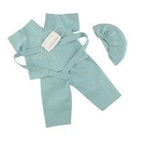18 Inch Dolls Clothes/clothing Fits American Girl - Hospital Doctor Scrubs Outfit Includes 18