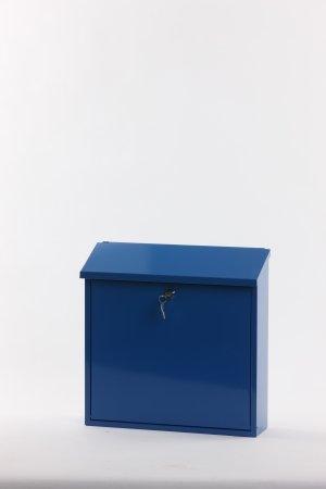 V-Part Wandbriefkasten, 11,5x37x37 cm, blau