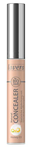 lavera Natural Concealer Q10 -Honey 03- Formula with Q10 ∙ Makes you look fresher and more awake ∙ Vegan ✔ Natural cosmetics ✔ Make-up ✔ Organic plant ingredients ✔ 100% natural make-up (5.5 ml)