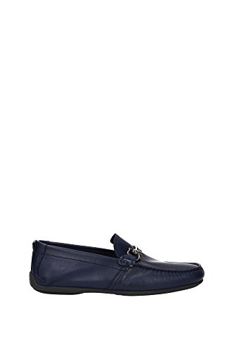 GUBBIO0644732 Salvatore Ferragamo Loafers Herren Leder Blau Blau