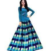 Clickedia Womens Degital Print Bangalori Silk Lehenga Choli