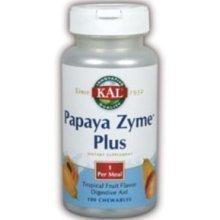 KAL - Papaya Zyme Plus, 200 mg, 100 tablets by Kal