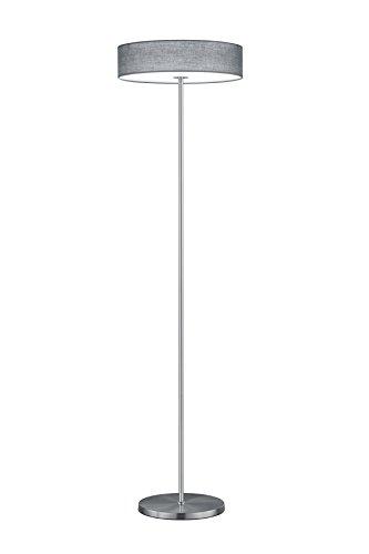 Trio Leuchten LED Stehleuchte, Nickel, Integriert, 24 W, Grau, 40 x 40 x 150 cm