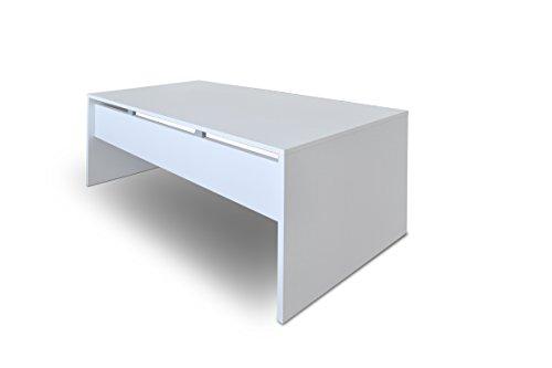 Scrivania In Legno Bianco : Tavolo scrivania consolle in legno bianco cassetto h cm
