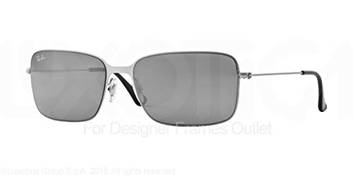 8937707a3b3 Ray Ban Rb3514 Sandblasted Silver Frame Green Mirror Silver Lens Metal  Sunglasses
