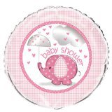 Unique Baby Shower Foil Banner - Pink Umbrellaphants