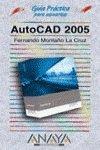 Autocad 2005 par  FERNANDO MONTAÑO