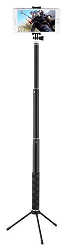 Selfie Stick, Maono telecomando Bluetooth e treppiedi (117cm), impermeabile portatile monopiede per GoPro, iPhone 7/7Plus/6Plus/6s Plus Samsung Galaxy Series, DSLR (117cm con treppiede)