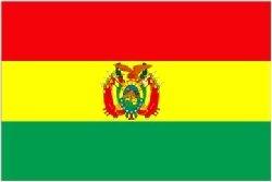 Novelties Direct Flagge von Bolivien/Bolivian 1.52 x meters 0.91 meters (100% Polyester), mit Ösen zum Aufhängen (Bolivien Gem)