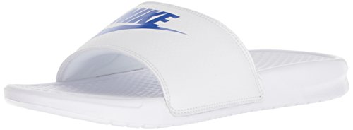 Nike Benassi Jdi Herren Flip Flop, Schwarz (White/Varsity Royal-White 102), 47.5 EU