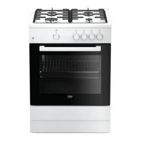 Beko FSG62000DWL - Cocina (Cocina independiente, Negro, Blanco, Giratorio, Frente, Encimera de gas, Butano/Propano)