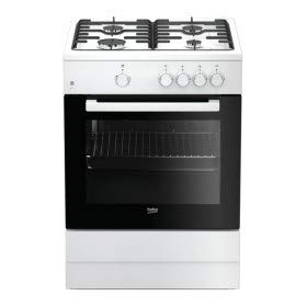 Beko FSG62000DWL - Cocina (Cocina independiente, Negro, Blanco, Giratorio, Frente, Encimera de...