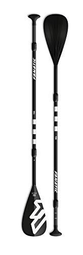 Fanatic Pure Einstellbares 3-teiliges SUP-Paddel. Stand Up Paddel. iSUPs - 15% Carbon, einstellbar, schwarz matt