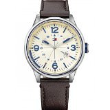 tommy-hilfiger-peter-mens-quartz-watch-with-yellow-dial-analogue-display-and-brown-leather-strap-179