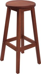 Barhocker, Sitzhocker, Barstuhl CASABLANCA aus Eukalyptusholz FSC