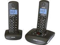 Audioline Pro 282 DECT Schnurlostelefon mit zusätzlichem Mobilteil (Anrufbeantworter) schwarz