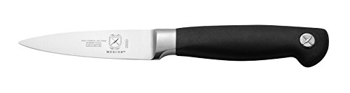 Mercer Culinary M20003 Genesis 3.5-Inch Stainless Steel Forged Paring Knife, Black