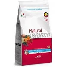 Trainer Natural ADULT MEDIUM con Tonno, Riso e Alga Spirulina 3 Kg