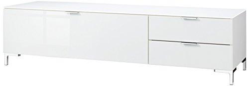 CS Schmalmöbel 45.012.505/013 TV-Board Cleo Typ 12, 163 x 50 x 44 cm, weiß / weißglas