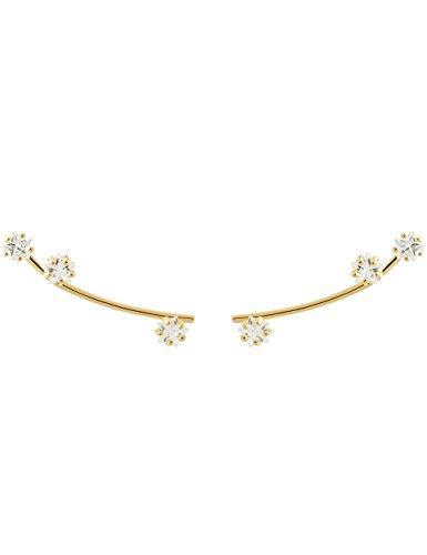 P D PAOLA - Goldene Ohrringe GLOW Gold - 925er Silber 18k Golden Vergoldet - Schmuck für Damen- Geschenk