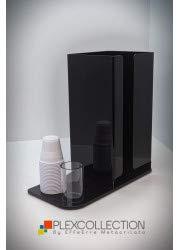 Plexcollection portacialde portazucchero portapalette portabicchierini in plexiglass nero cm 22x15x30h