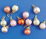 1:12 Scale Dolls House Miniatures 12 Christmas Baubles D942