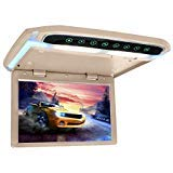 CarThree 12.1 Inch Flip Down Monitor with HDMI SD FM LED Roof Mount
