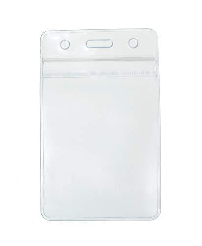 CKB Ltd 10x Show klar durchsichtig vertikal ID Badge Card Plastik Pocket Tasche Holder Ausweiskartenhalter Beutel 109 x 69mm Ausweishülle Kartenhalter Badgeholder