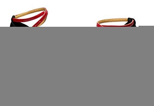 VESI - Damen Hoher Absatz Tanzschuhe Standard/Latein Rot 41(Absatz 7cm) - 4