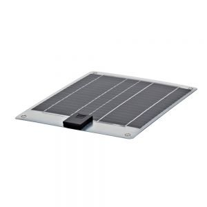 Biard 10W Panel Solar Semi Flexible Fotovoltaico - Tipo Monocristalino - Para Cargar Baterías 12V - Ideal Para Caravanas, Botes y Casas Rodantes - Acabado Plateado