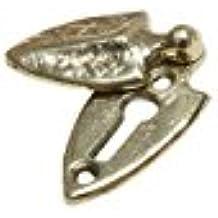 Cast Brass Arrow Head/Spade Covered Keyhole Escutcheon