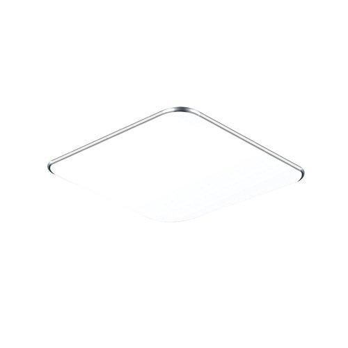 SAILUN 18W Kaltweiß Ultraslim LED Deckenleuchte Modern Deckenlampe Flur Wohnzimmer Lampe Schlafzimmer Küche Energie Sparen Licht Wandleuchte Farbe Silber (18W Silber Kaltweiß)