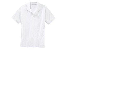 Preisvergleich Produktbild Poloshirt Herren-Shirt Gr. XL 56 / 58 Farbe: Weiss Material: 100% Baumwolle. Das Shirt ist in Pikee-Qualität und lässt sich ideal zum arbeiten oder in der Freizeit tragen.