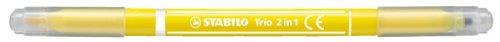 Filzstift und Fineliner in einem - STABILO Trio 2 in 1-10er Pack - gelb