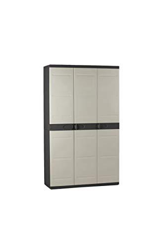 Titanium plastiken Armario Alta 3Puertas con étageres y penderie- L105xp44X...
