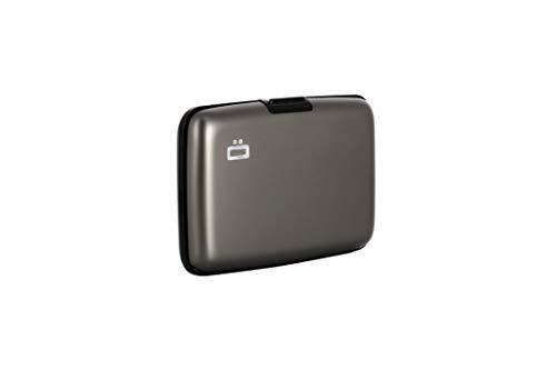 Ögon Smart Wallets - Porte-Cartes Stockholm - RFID Protection : protège Vos Cartes Contre la fraude - Capacité jusqu'à 10 Cartes + reçus + Billets - Aluminium anodisé (Titanium)