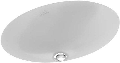 Villeroy & Boch encastrable avec lavabo 6161.30.r1, 66 x 47 cm sans hahnl, 1 pièce, blanc alpin, 113541405