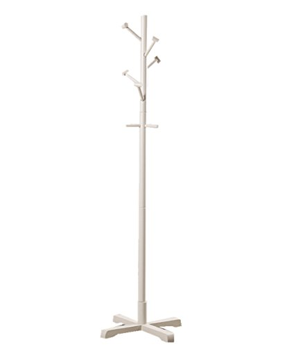 Holz Coat Racks freistehend Hat/Beutelaufhänger Schirmhalter Hall Baum Kleiderbügel weiß Schirmhalter Und Kleiderbügel