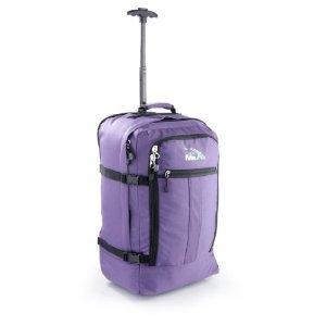 Preisvergleich Produktbild Cabin Max Flugzugelassenes Handgepäck Rucksack Tasche - 44L Rollengepäck - Lila
