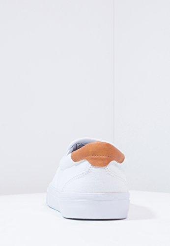 YOURTURN Loafer Herren Schwarz oder Weiß, uni - Slip on Sneaker modern - Canvas Sneakers sportlich Weiß