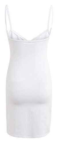 noppies verführerische Still-Slipdress Nachthemd Schlafkomfort Still-Nachthemd 40381 (XL, weiss) weiss