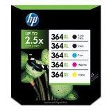 Pack 5 cartouche d'encre HP N°364 XL Noir et
