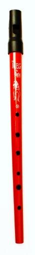 Clarke Pennywhistle TIN WHISTLE Stimmung D rot -- die beliebte Whistle vom Originalhersteller aus England mit Grifftabelle und Noten zu 4 Songs