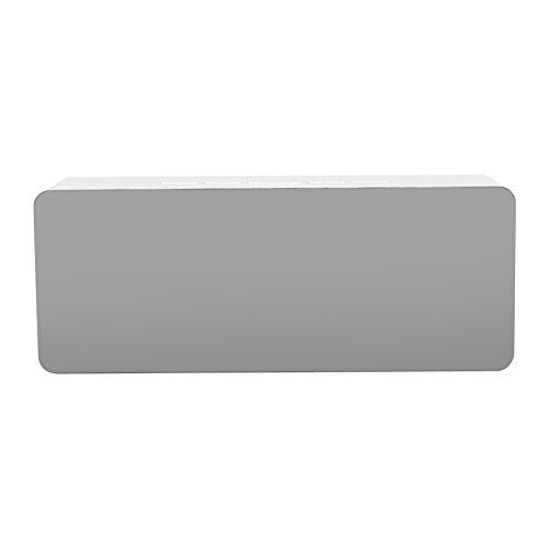 LED Digital Wecker Multifunktionale USB Spiegel Wecker Tischlampe Schreibtisch Nachttischuhren Für Schlafzimmer Küche Reise(Rechteck)