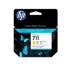 Hp Designjet Tinte Gelb (HP Original CZ136A / 711, für DesignJet T 120 3X Premium Drucker-Patrone, Gelb, 3 x 29 ml)