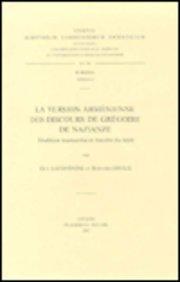 La Version Armenienne Des Discours De Gregoire De Nazianze. Subs. 67.